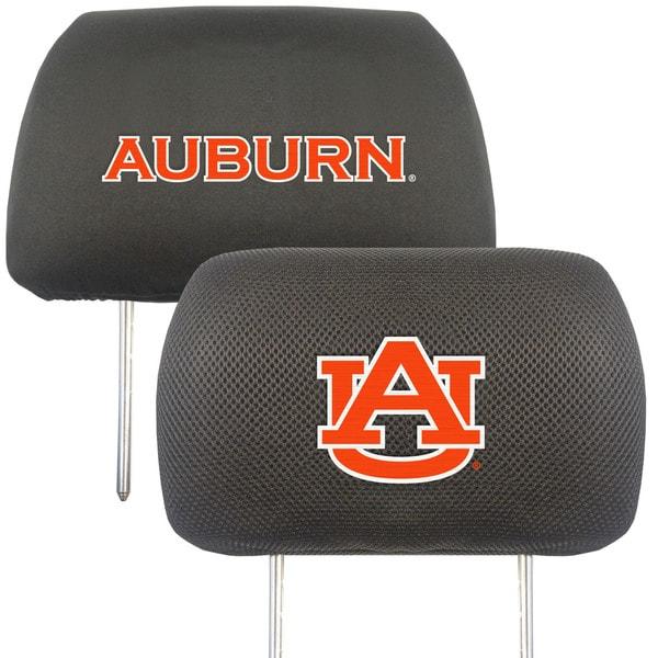 Fanmats Auburn Tigers Collegiate Charcoal Head Rest Covers Set of 2