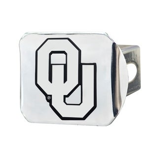 Fanmats Oklahoma Sooners Chrome Metal Collegiate Hitch Cover
