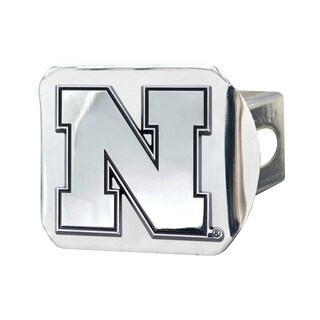 Fanmats Nebraska Cornhuskers Chrome Metal Collegiate Hitch Cover