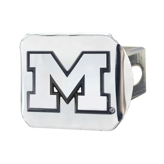 Fanmats Michigan Wolverines Chrome Metal Collegiate Hitch Cover