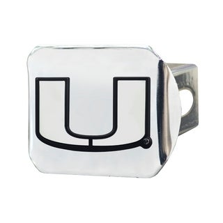 Fanmats Miami Hurricanes Chrome Metal Collegiate Hitch Cover