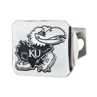 Fanmats Kansas Jayhawks Chrome Metal Collegiate Hitch Cover