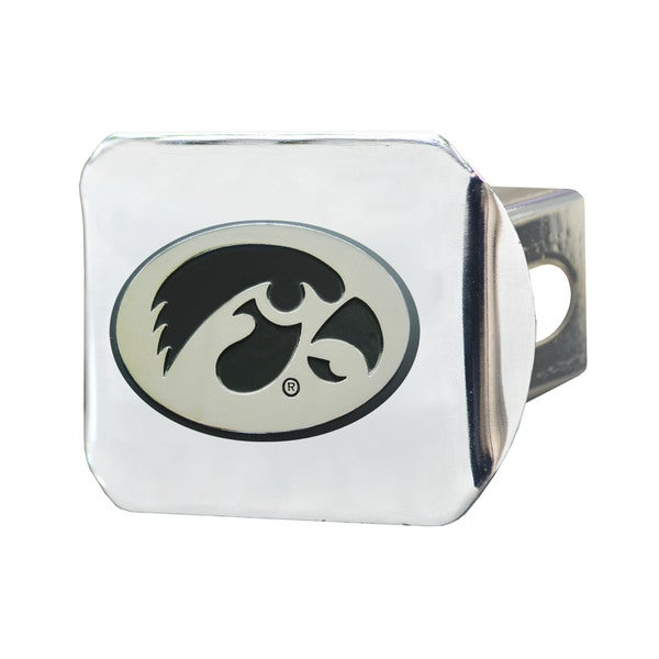 Fanmats Iowa Hawkeyes Chrome Metal Collegiate Hitch Cover
