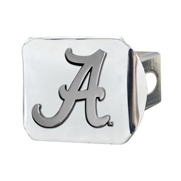 Fanmats Alabama Crimson Tide Chrome Metal Collegiate Hitch Cover