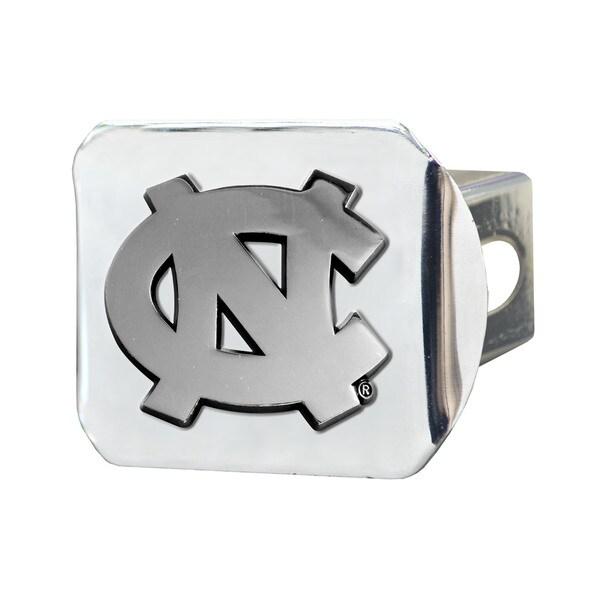 Fanmats North Carolina Tar Heels Chrome Metal Collegiate Hitch Cover
