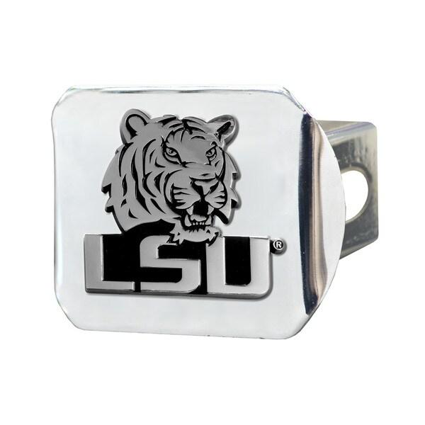 Fanmats LSU Tigers Chrome Metal Collegiate Hitch Cover
