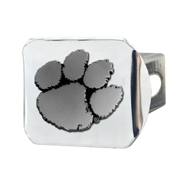 Fanmats Clemson Tigers Chrome Metal Collegiate Hitch Cover