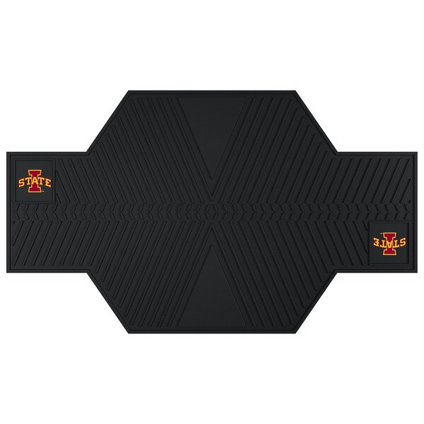Fanmats Iowa State Cyclones Black Rubber Motorcycle Mat