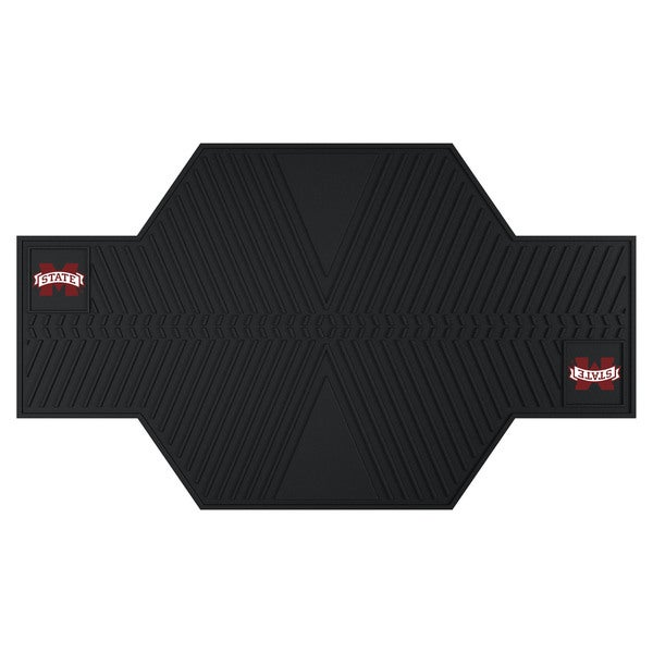 Fanmats Mississippi State Bulldogs Black Rubber Motorcycle Mat