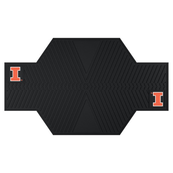 Fanmats Illinois Fighting Illini Black Rubber Motorcycle Mat
