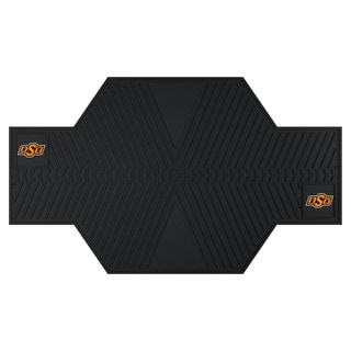 Fanmats Oklahoma State Cowboys Black Rubber Motorcycle Mat
