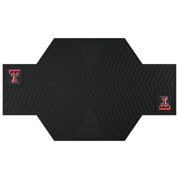 Fanmats Texas Tech Raiders Black Rubber Motorcycle Mat