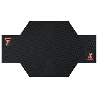 Fanmats Texas Tech Raiders Black Rubber Motorcycle Mat