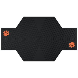 Fanmats Clemson Tigers Black Rubber Motorcycle Mat