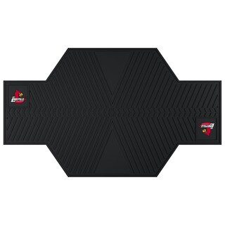Fanmats Louisville Cardinals Black Rubber Motorcycle Mat