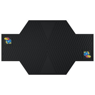 Fanmats Kansas Jayhawks Black Rubber Motorcycle Mat