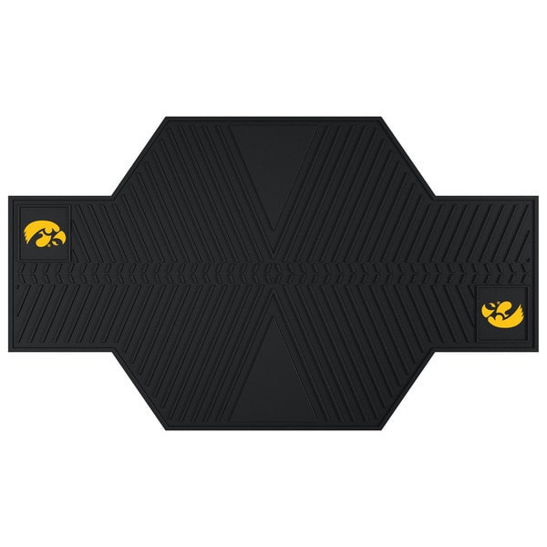 Fanmats Iowa Hawkeyes Black Rubber Motorcycle Mat