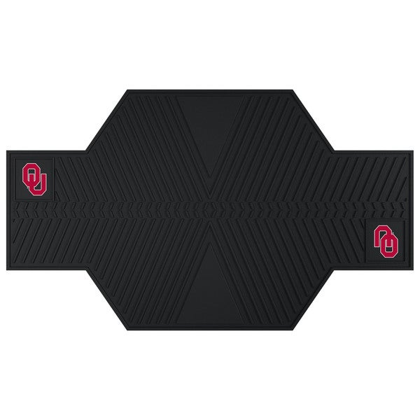 Fanmats Oklahoma Sooners Black Rubber Motorcycle Mat