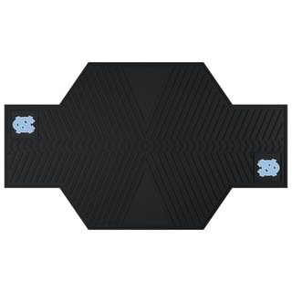 Fanmats North Carolina Tar Heels Black Rubber Motorcycle Mat