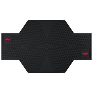 Fanmats Arkansas Razorbacks Black Rubber Motorcycle Mat