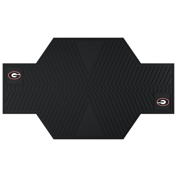 Fanmats Georgia Bulldogs Black Rubber Motorcycle Mat