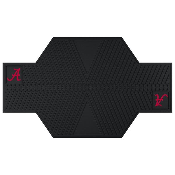 Fanmats Alabama Crimson Tide Black Rubber Motorcycle Mat