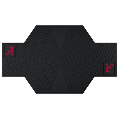 Fanmats Alabama Crimson Tide Black Rubber Motorcycle Mat