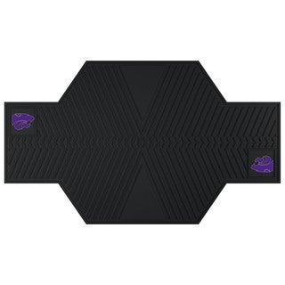 Fanmats Kansas State Wildcats Black Rubber Motorcycle Mat
