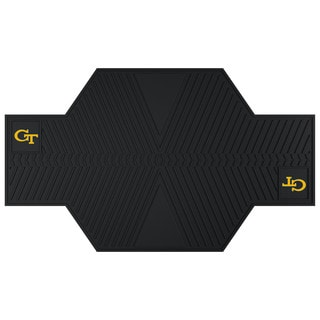 Fanmats Georgia Tech Yellow Jackets Black Rubber Motorcycle Mat