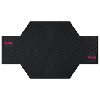 Fanmats Ole Miss Rebels Black Rubber Motorcycle Mat