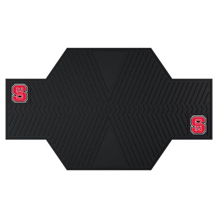 Fanmats North Carolina State Wolfpack Black Rubber Motorcycle Mat