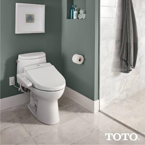 Toto WASHLET C100 Electronic Bidet Toilet Seat with PREMIST, Elongated, Cotton White (SW2034#01) - N/A