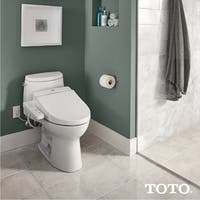Toto Washlet C100 Elongated Bidet Toilet Seat with PreMist SW2034#01 Cotton White
