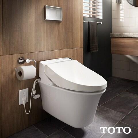 Toto Washlet C200 Elongated Bidet Toilet Seat with PreMist SW2044#01 Cotton White