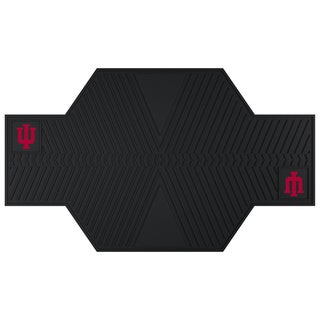 Fanmats Indiana Hoosiers Black Rubber Motorcycle Mat