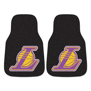 Fanmats Los Angeles Lakers Black Nylon Carpeted Car Mat Set