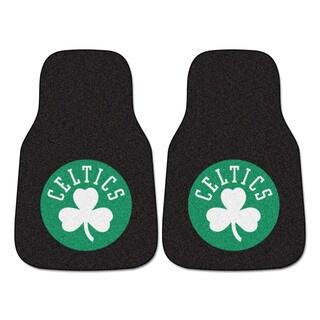 Fanmats Boston Celtics Black Nylon Carpeted Car Mat Set