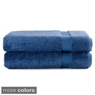 Salbakos Turkish Luxury Hotel and Spa Collection 30 x 60-inch Bath Sheet Terry Towel (Set of 2)