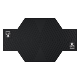 Fanmats Brooklyn Nets Black Rubber Motorcycle Mat