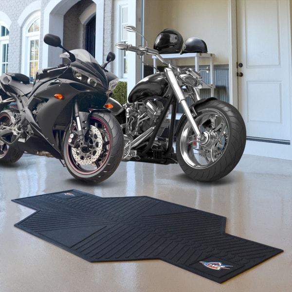 Fanmats Oklahoma City Thunder Black Rubber Motorcycle Mat