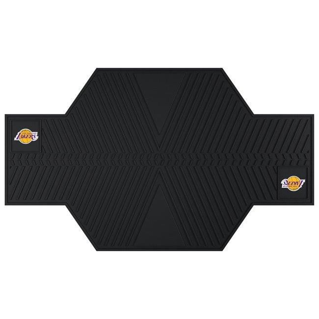 Fan Mats Los Angeles Lakers Black Rubber Motorcycle Mat (...