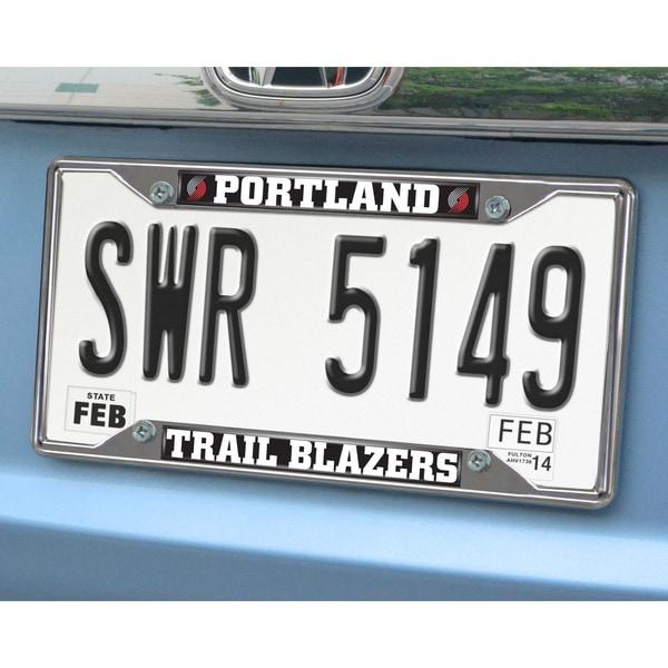 Fanmats Portland Trailblazers Chrome License Plate Frame