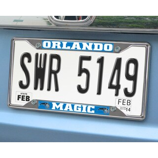 Fanmats Orlando Magic Chrome License Plate Frame