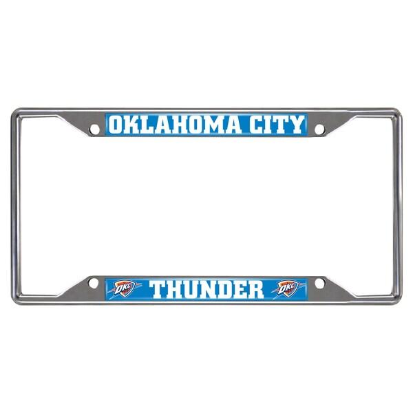 Fanmats Oklahoma City Thunder Chrome License Plate Frame
