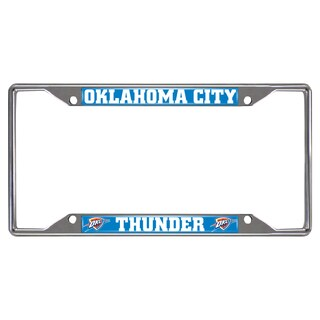 Fanmats Oklahoma City Thunder Chrome License Plate Frame