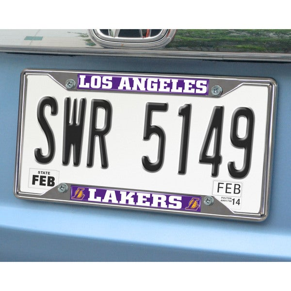 Fanmats Los Angeles Lakers Chrome License Plate Frame