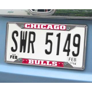 Fanmats Chicago Bulls Chrome License Plate Frame