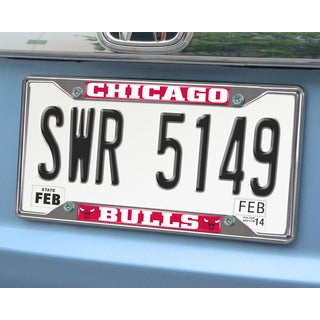 Fanmats Chicago Bulls Chrome License Plate Frame