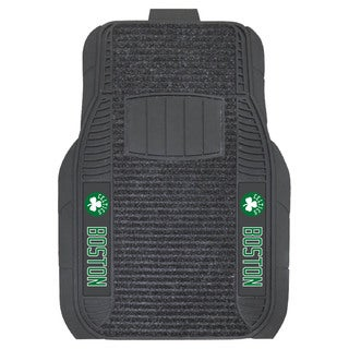 Fanmats Boston Celtics Charcoal Vinyl Deluxe Car Mat Set