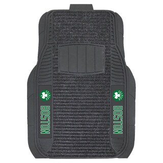 Fanmats Boston Celtics Charcoal Vinyl Deluxe Car Mat Set